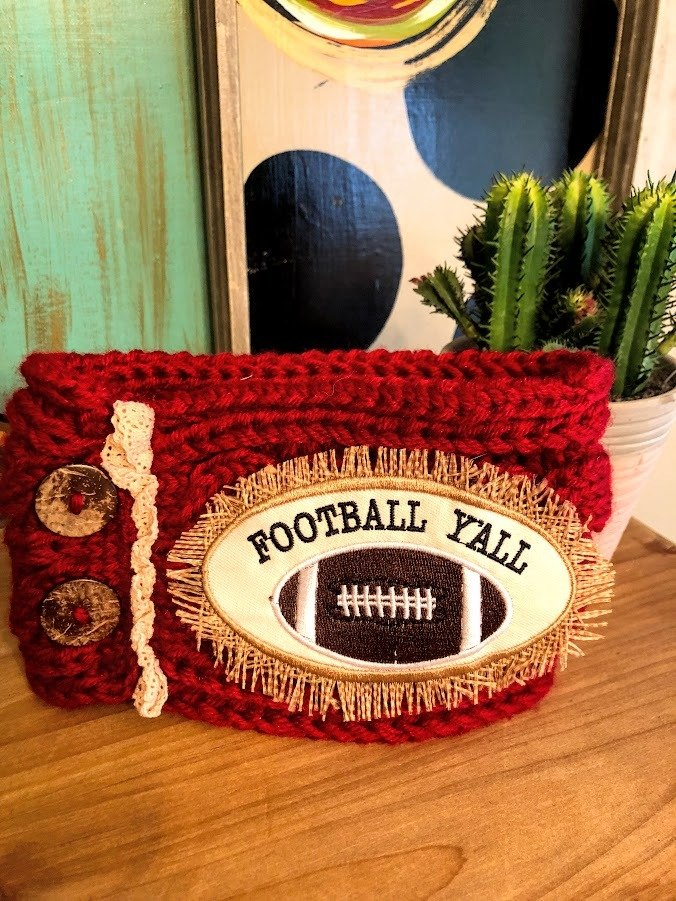 Football Ya'll Headband-Red