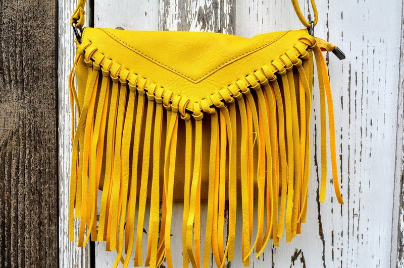 Fringe Crossbody Purse (Gold)