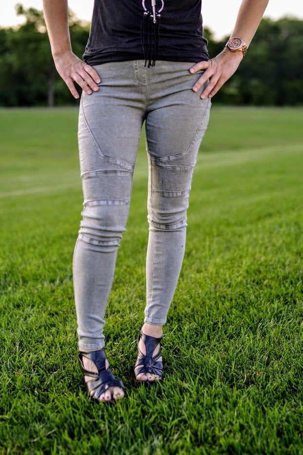 Charcoal Jeggings - The Pink Buffalo,LLC