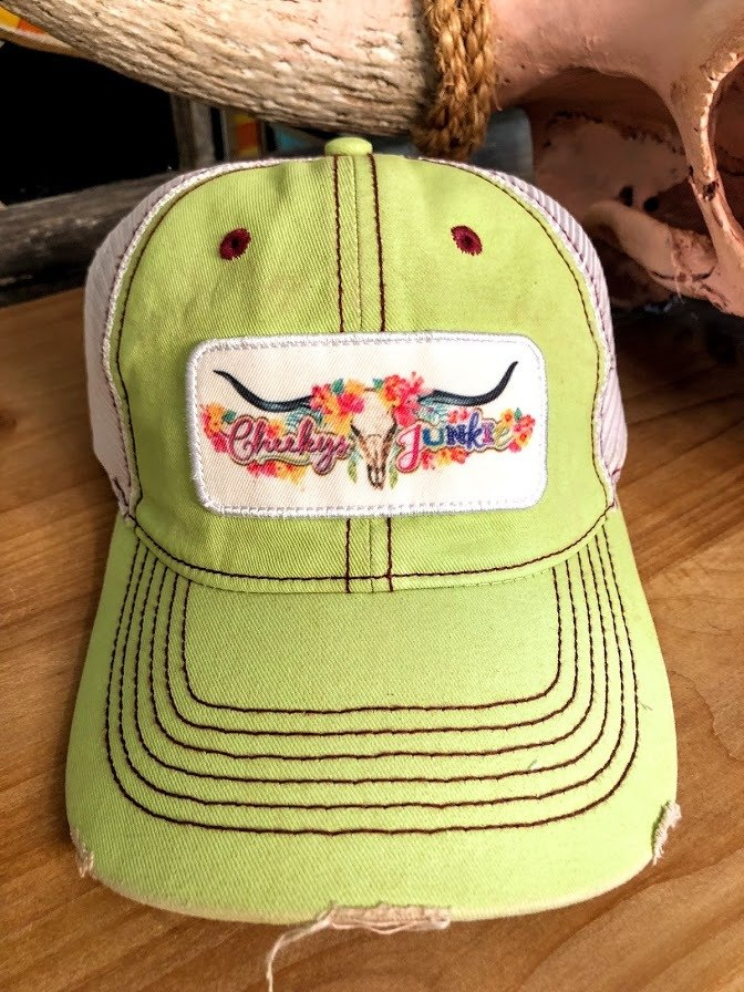 Cowskull Cap-Pastel Green - The Pink Buffalo,LLC