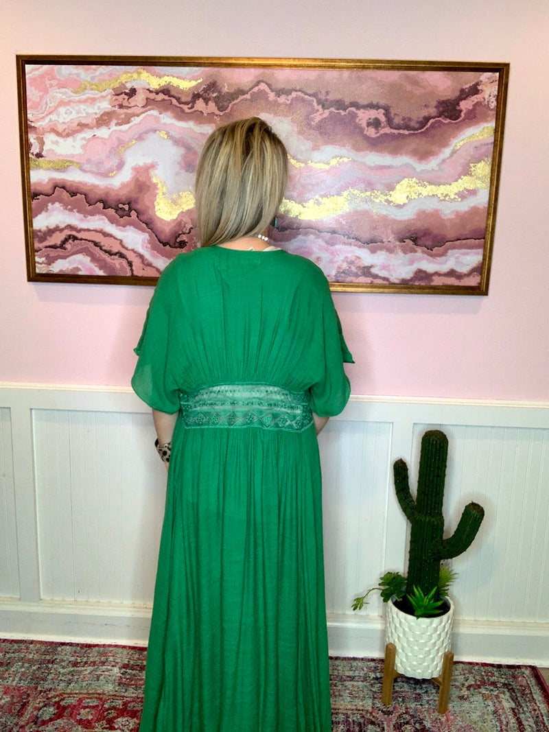 Jade Lace-Up Duster