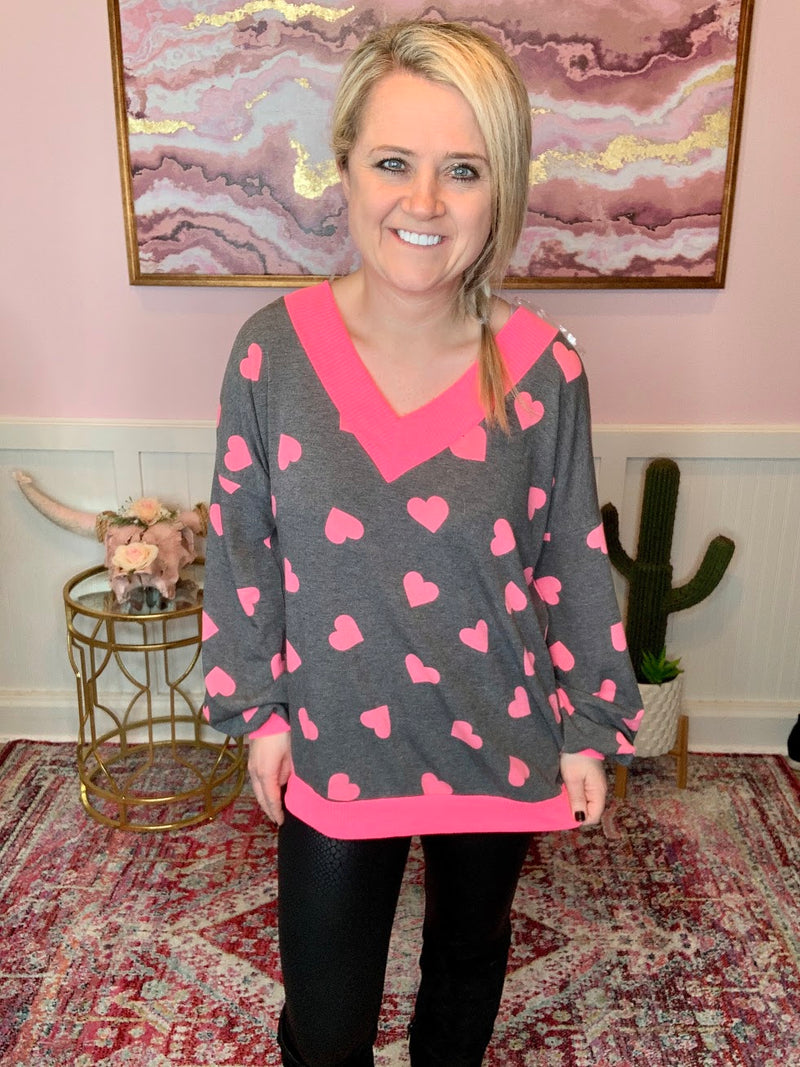 Valentines Day Heart Blouse