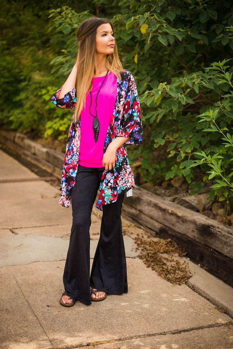Hot Pink Ruffle Top-PLUS