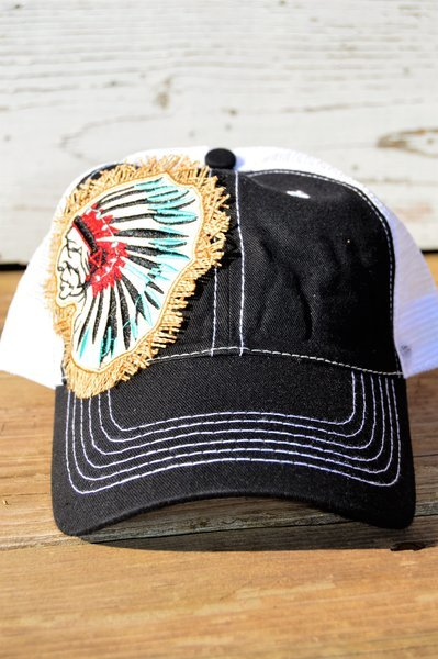 Indian Headdress Hat (Black)