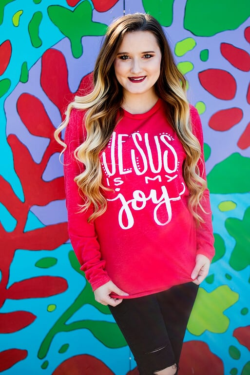 Jesus Is My Joy Tee-Long Sleeve