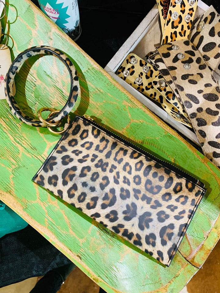 Leopard Key Chain Clutch