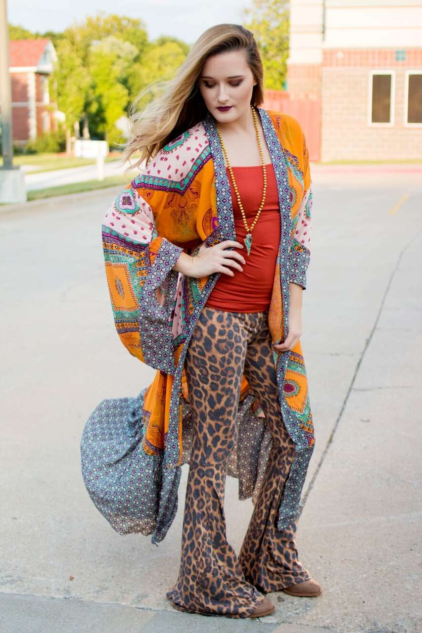 Boho Mustard Duster - The Pink Buffalo,LLC