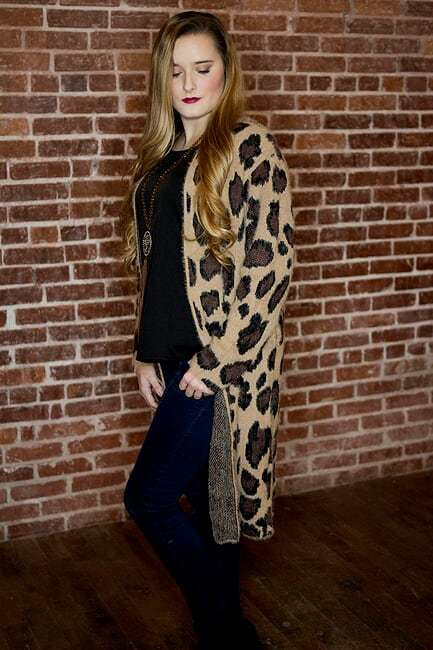 Leopard Sweater Duster