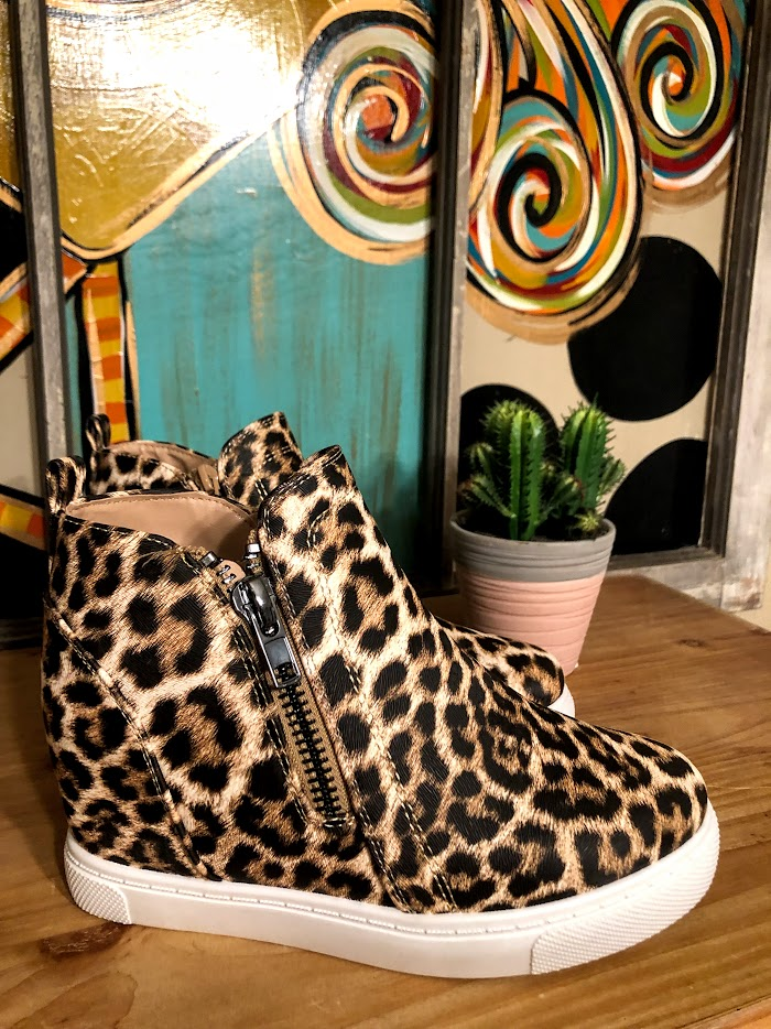 Leopard Canvas Sneakers