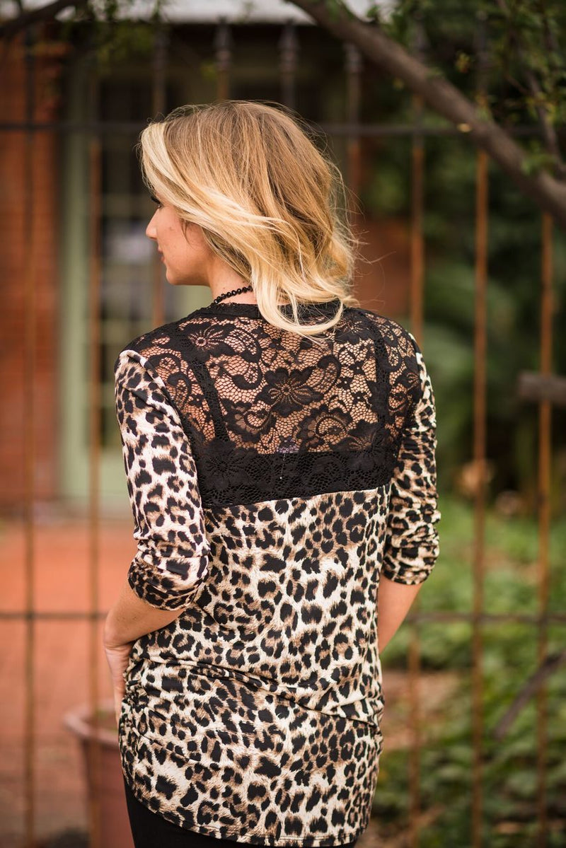 Leopard Knot Top-PLUS
