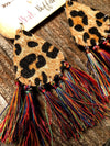 Leopard Tassel Earrings-Multicolored