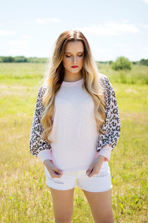 Leopard Print Sleeve Top