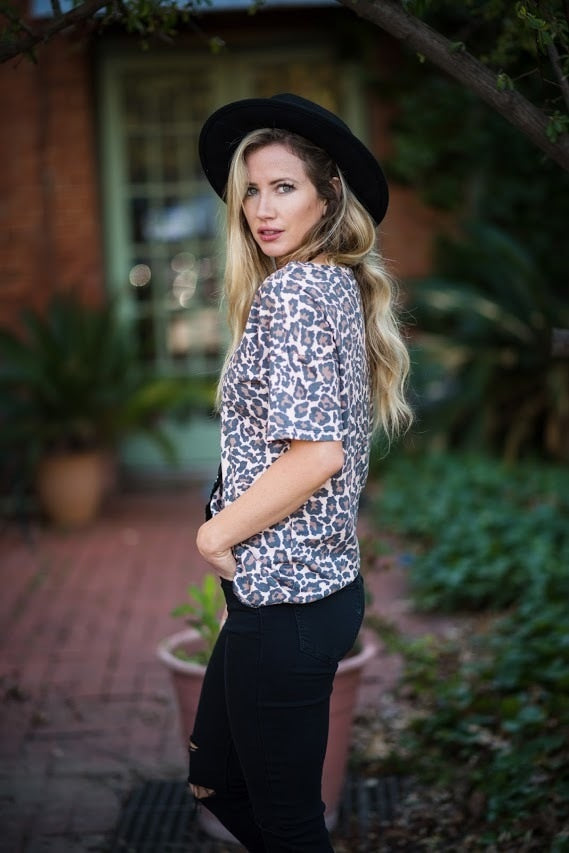 Lovely in Leopard V-Neck Top