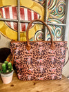 Leopard Cowskull Tote