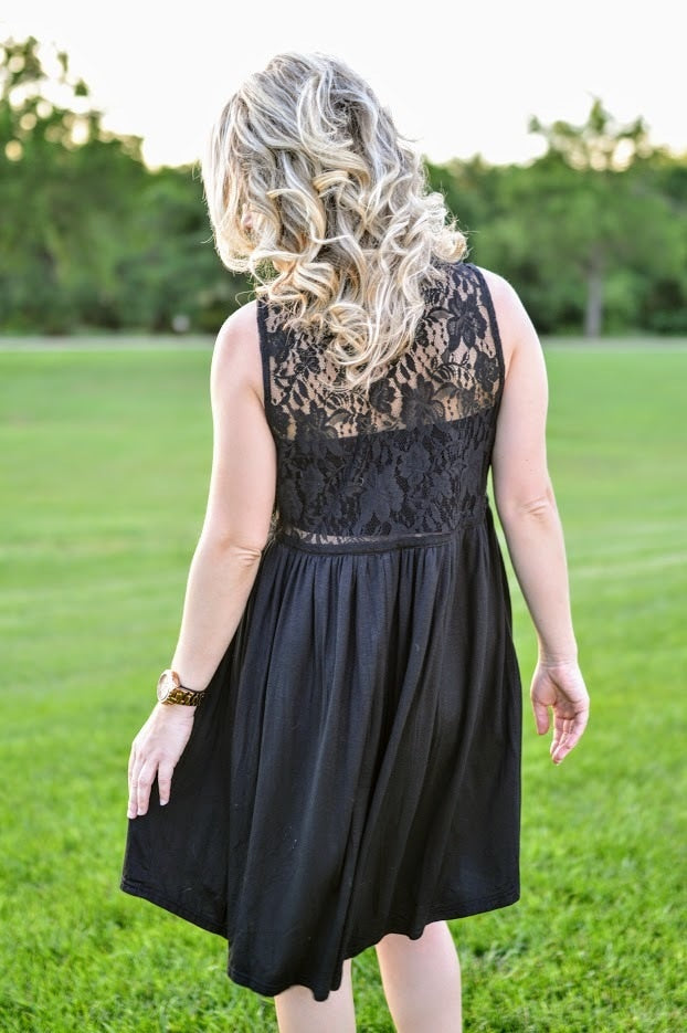 Black Lace Sleeveless Dress - The Pink Buffalo,LLC