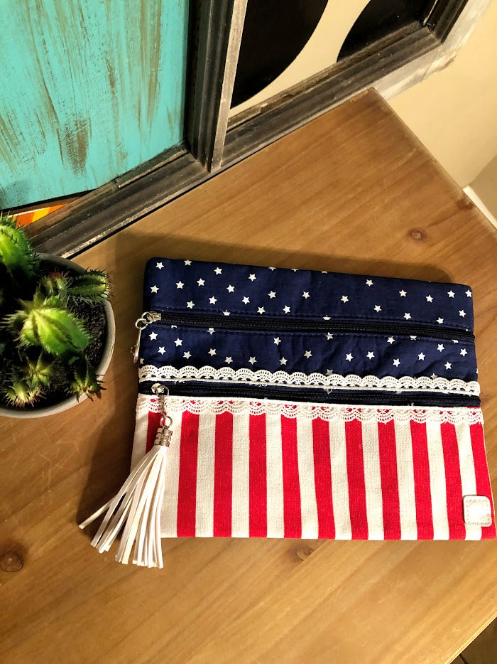 Stars & Stripes Makeup Bag