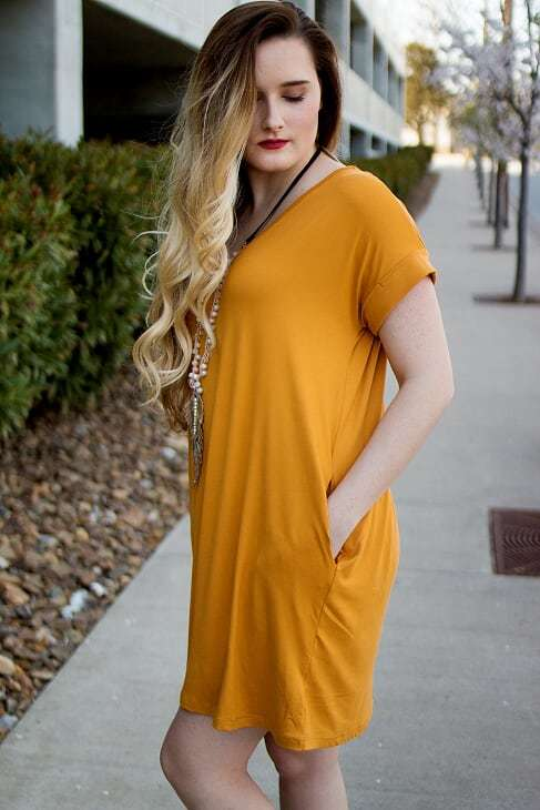 Mustard Pocket Dress