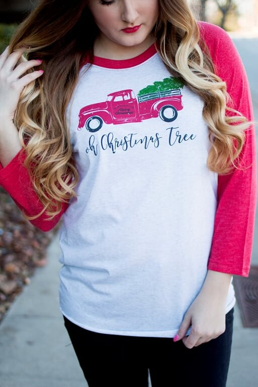 Oh Christmas Tree Raglan Tee