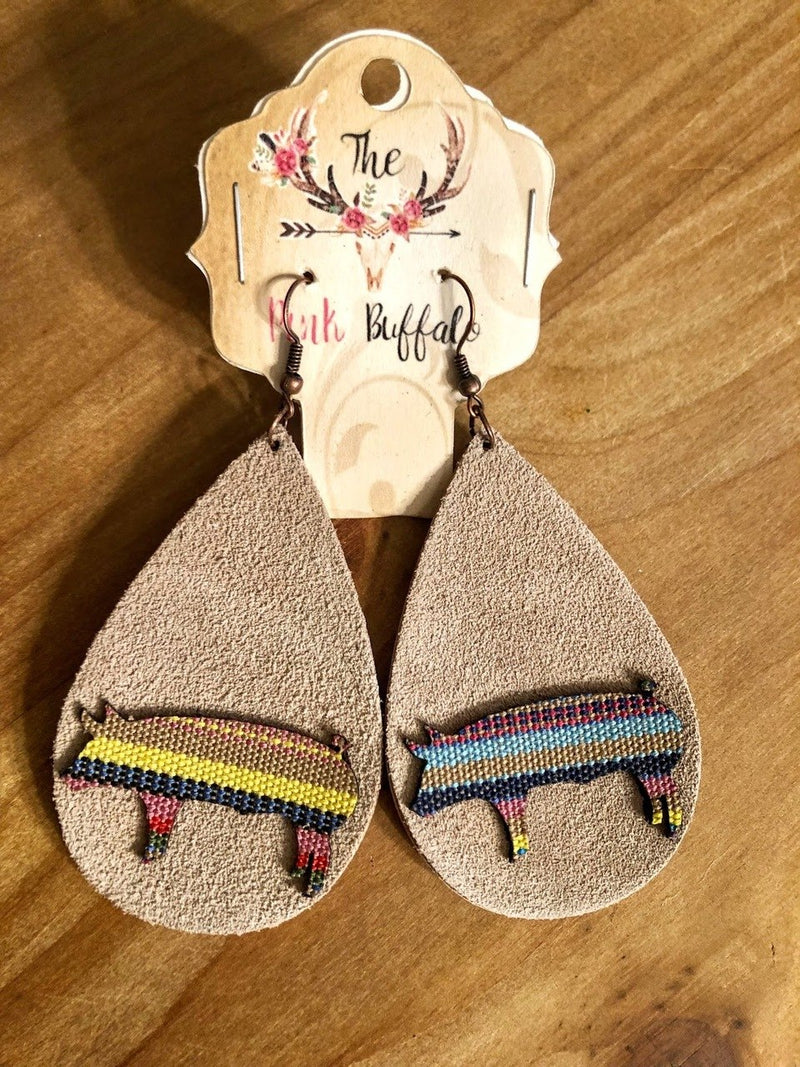 Pig Serape Earrings
