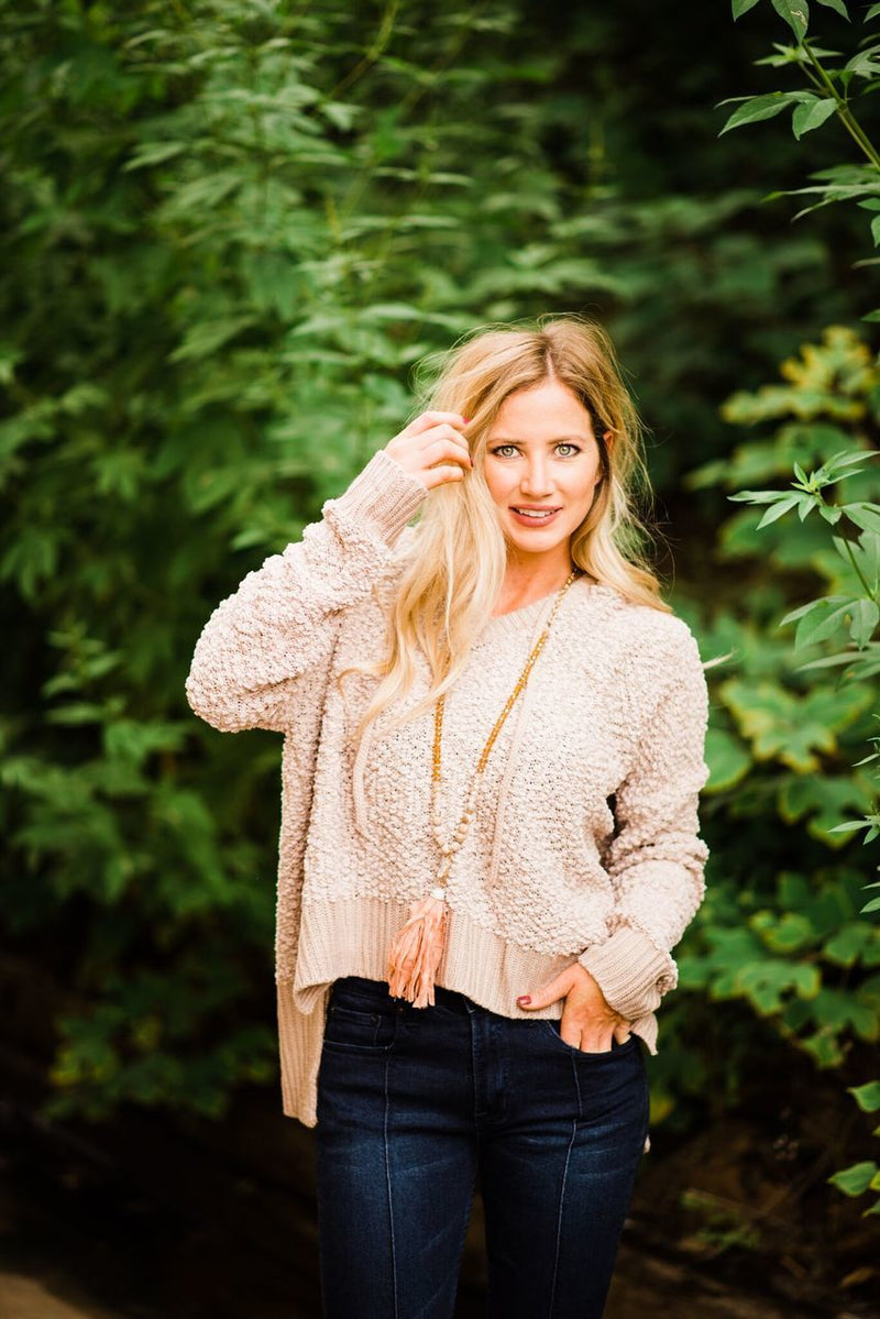 Blush Cropped Sweater - The Pink Buffalo,LLC