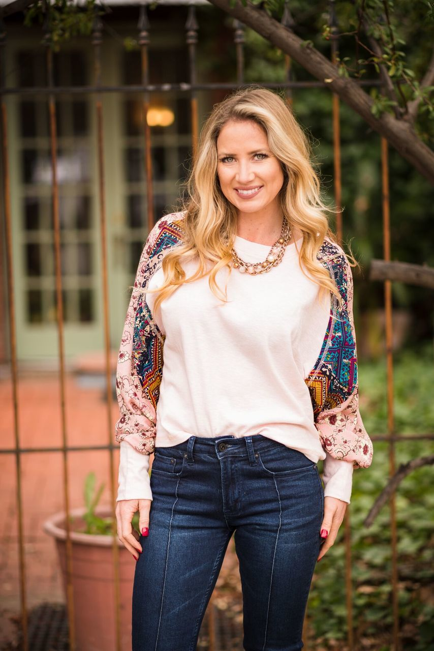 Pretty In Pink Boho Top