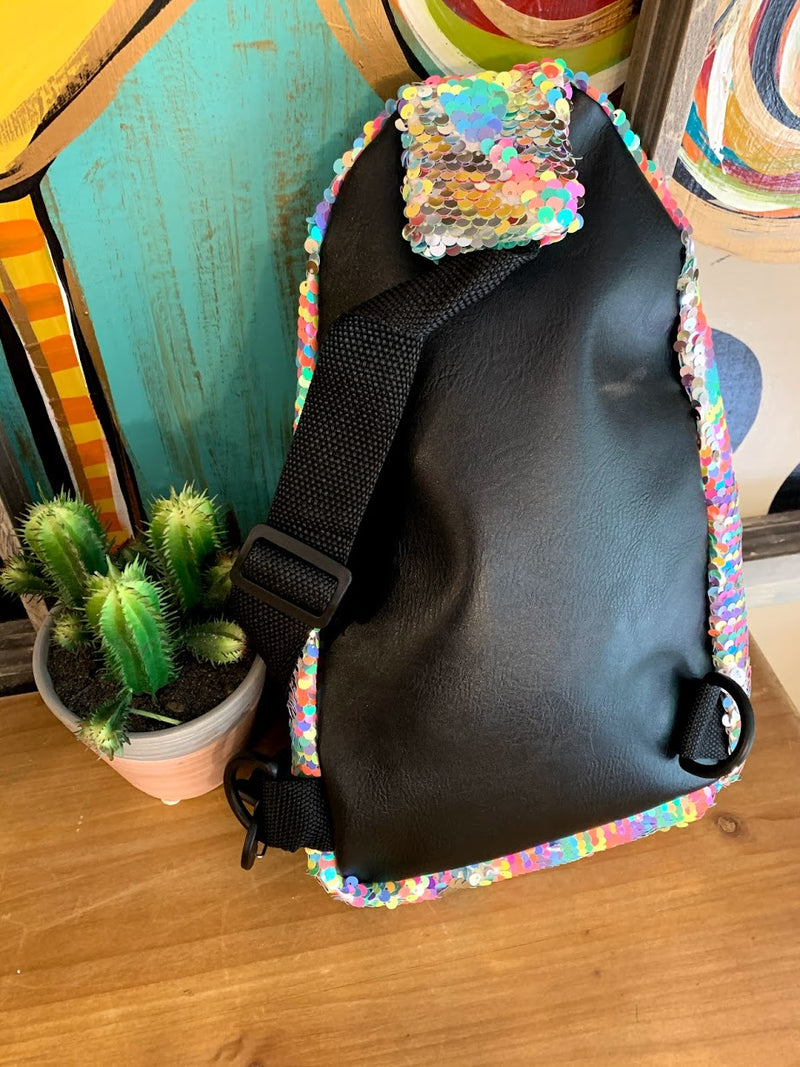 Rainbow Sequin Cross Body