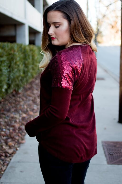 Red Sequin Sweater