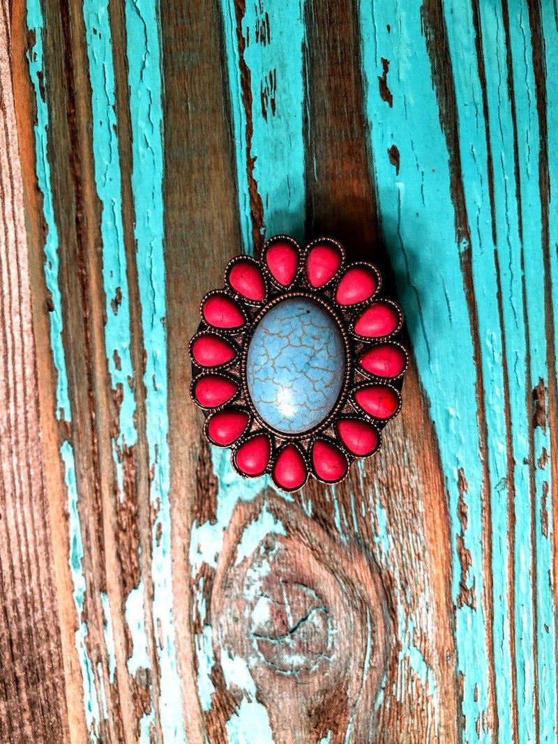 Red Beaded Phone Grip