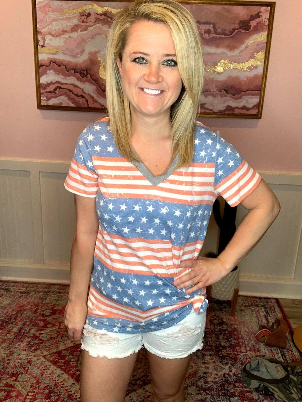 Red, White, & Blue Top