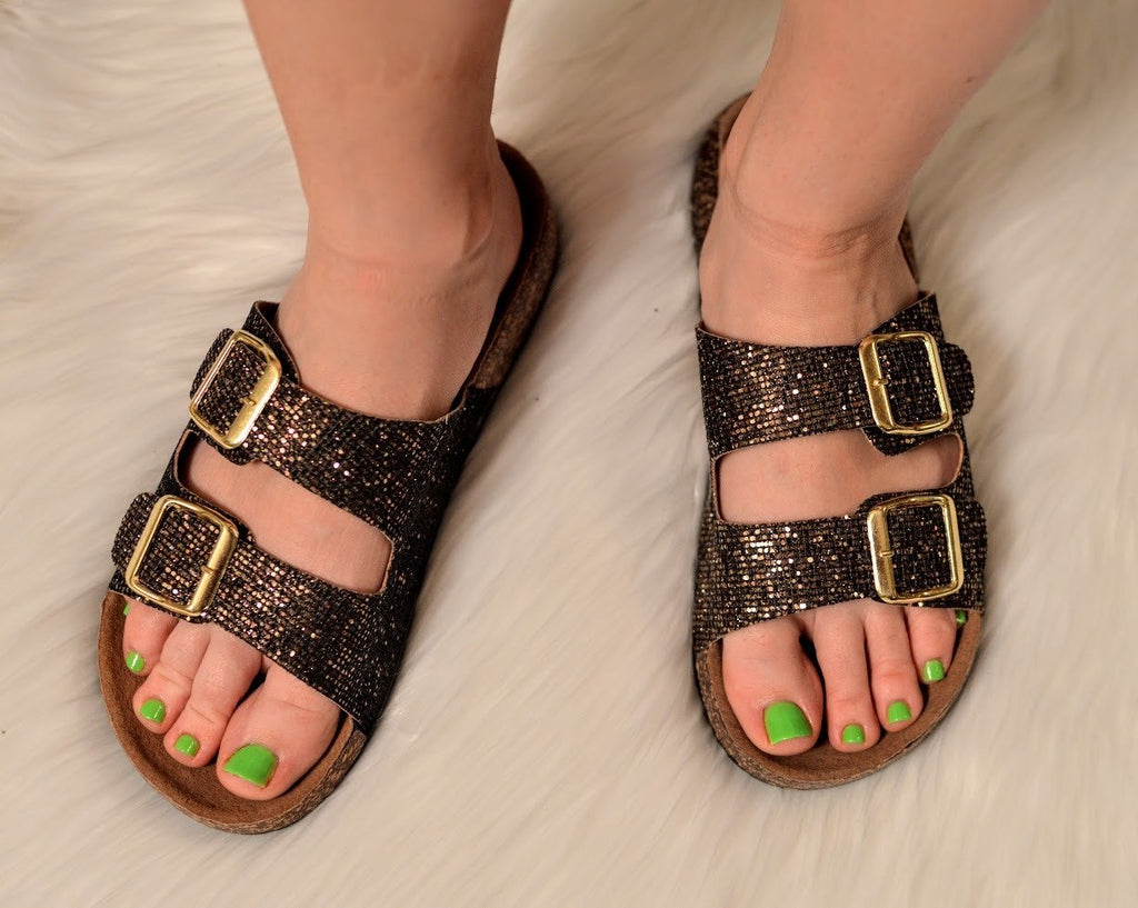 Sequin Birkenstock Sandals