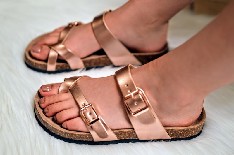Birkenstock Sandals-Rose Gold - The Pink Buffalo,LLC