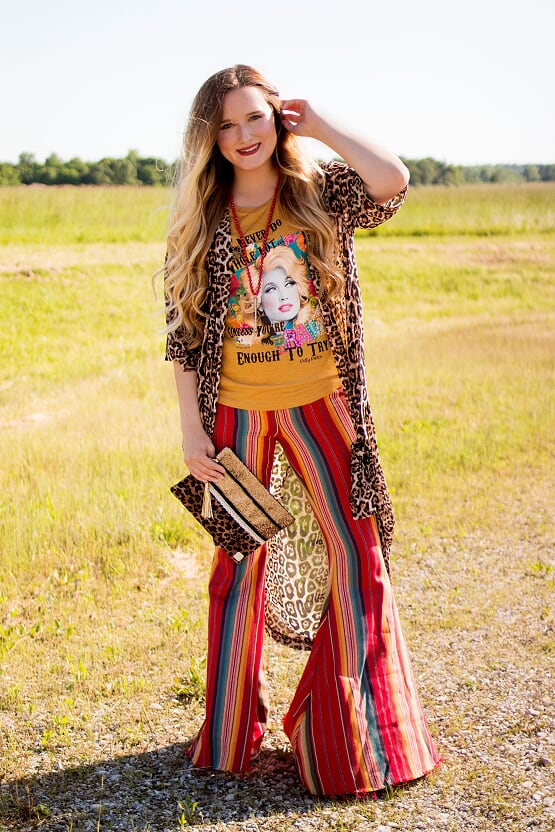 Red Serape Bell Bottoms