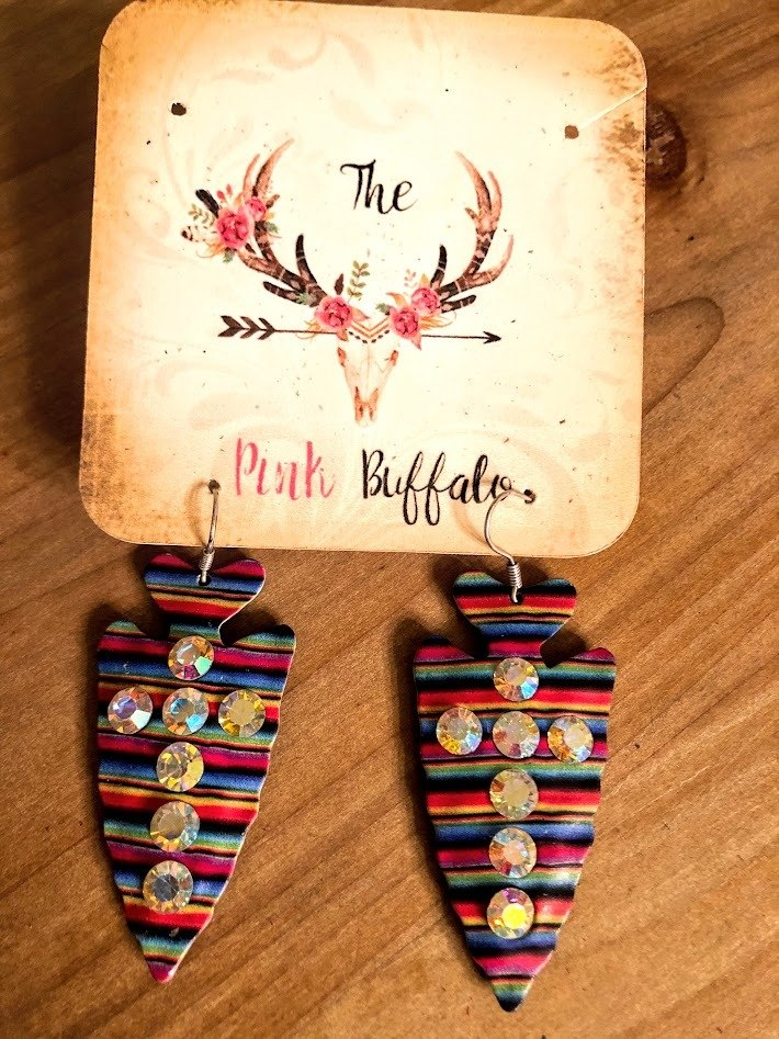 Serape Rhinestone Earrings