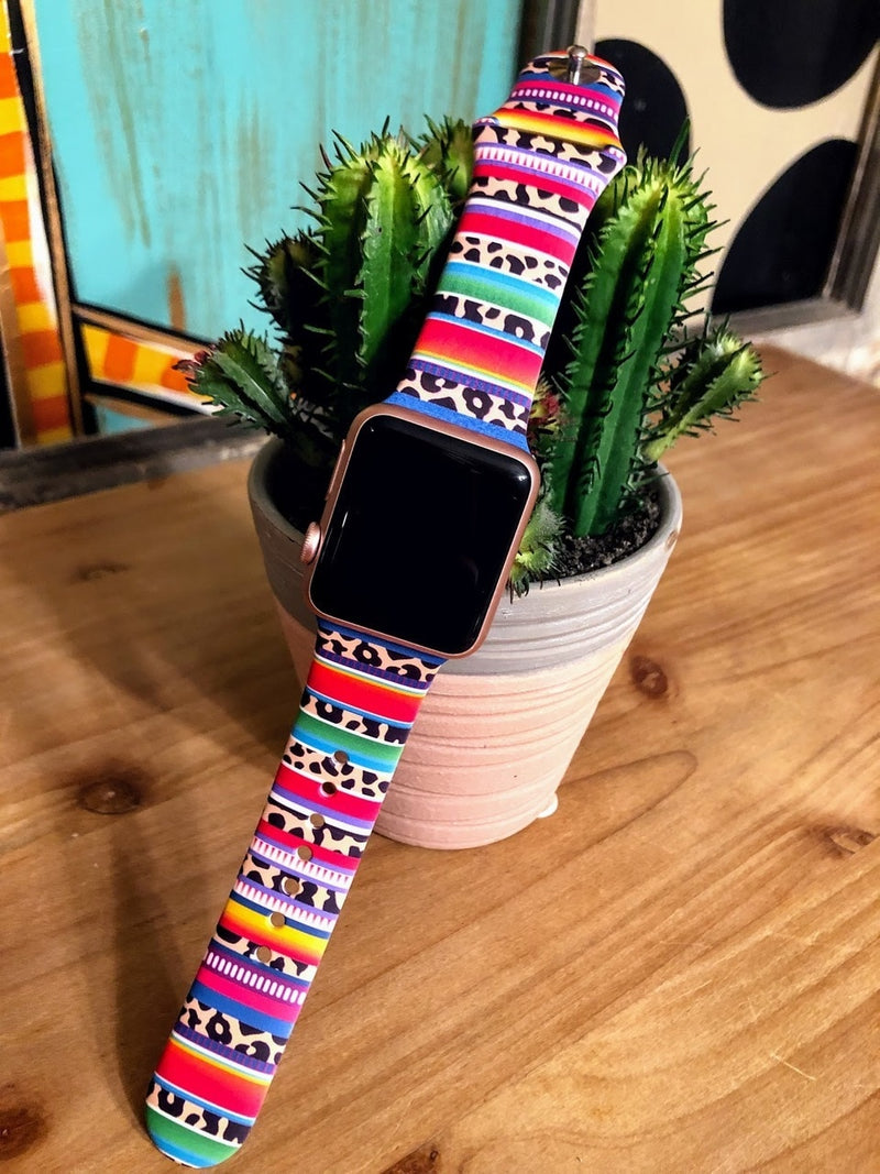 Serape Leopard Watch Band-38mm