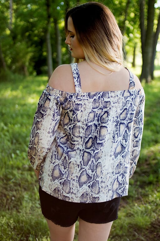 Triangle V Snakeskin Top