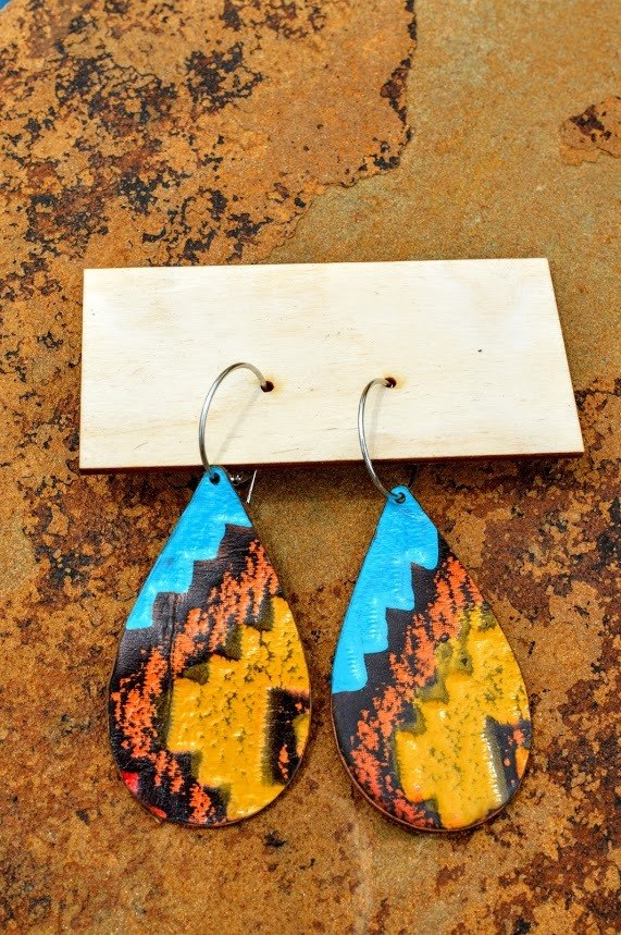 Southwest Burnout Earrings
