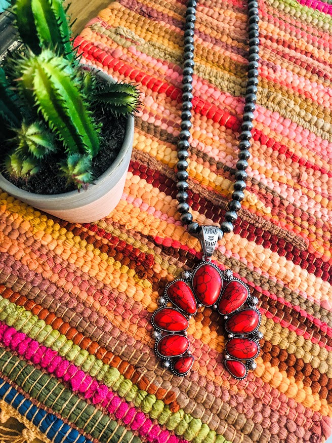 Squash Necklace-Red