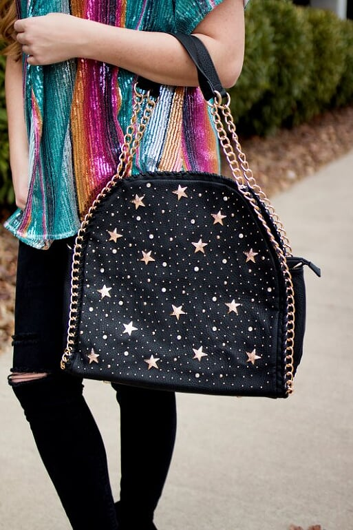 Black Star Studded Bag