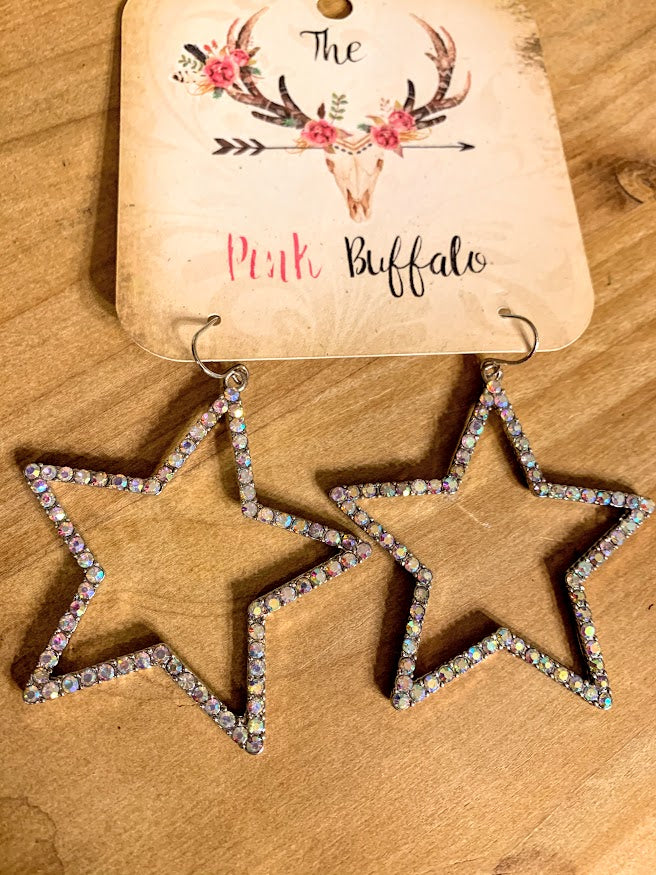 Star Earrings-Silver