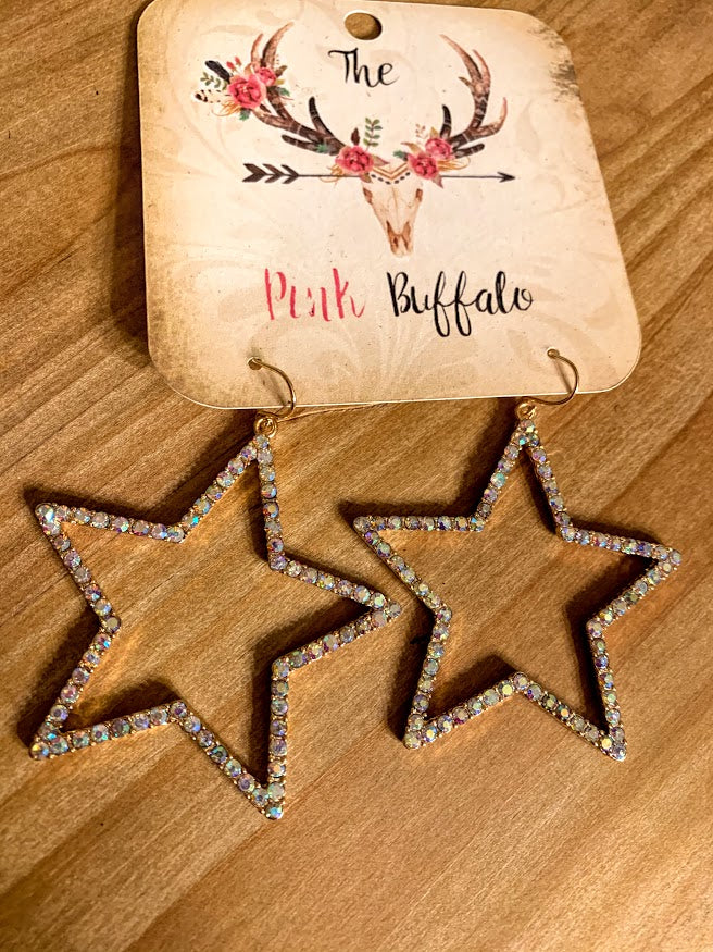 Star Earrings-Gold