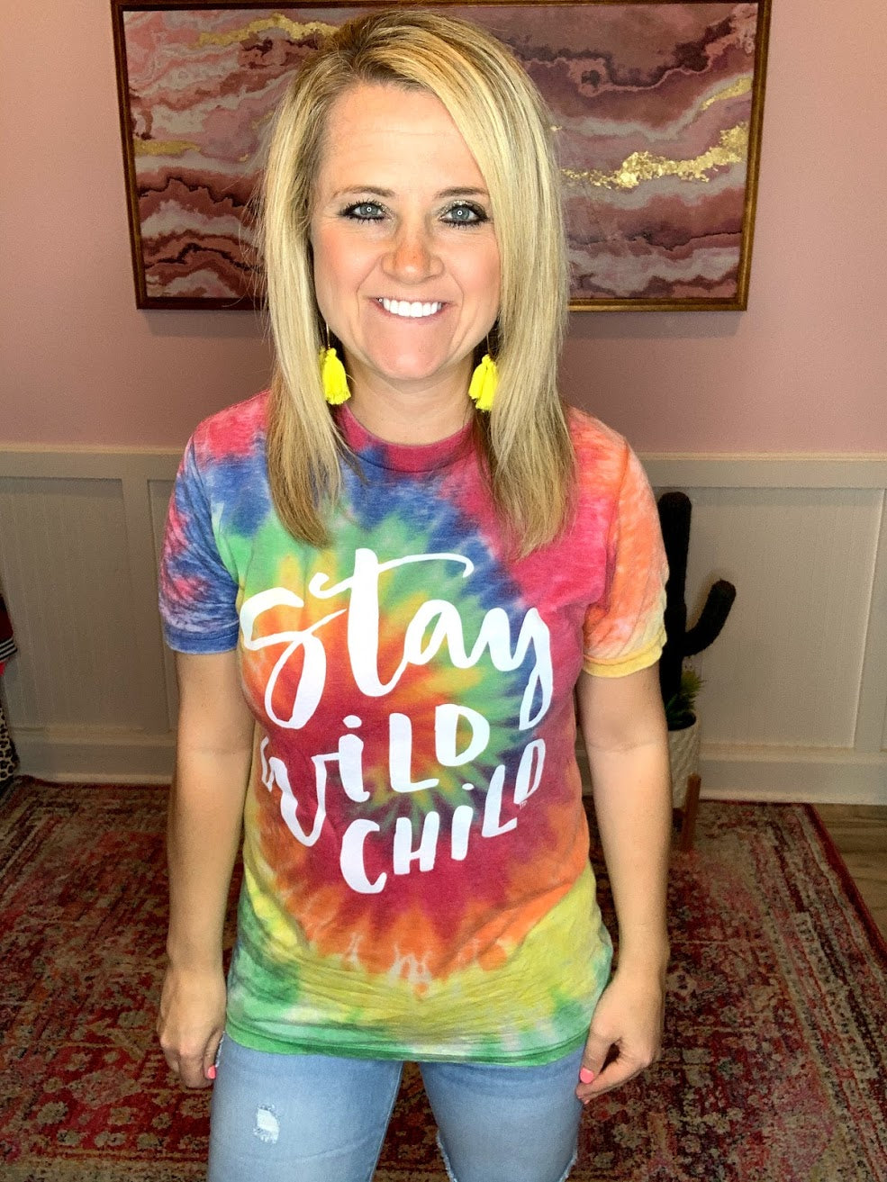 Stay Wild Child Tie Dye Tee