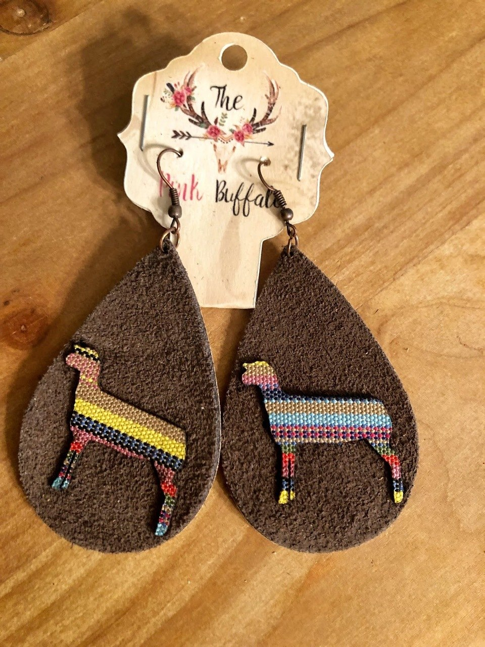 Steer Serape Earrings