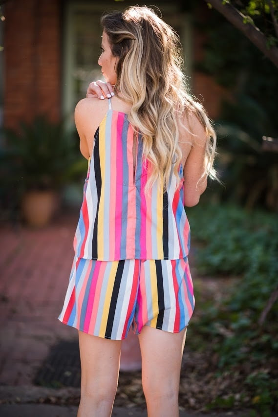 Striped At the Beach Romper