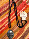 Sugar Skull Necklace-Black