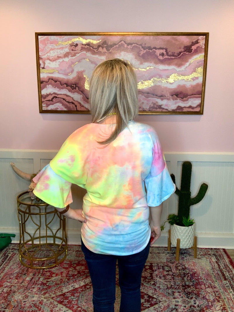 Cotton Candy Tie Dye Top