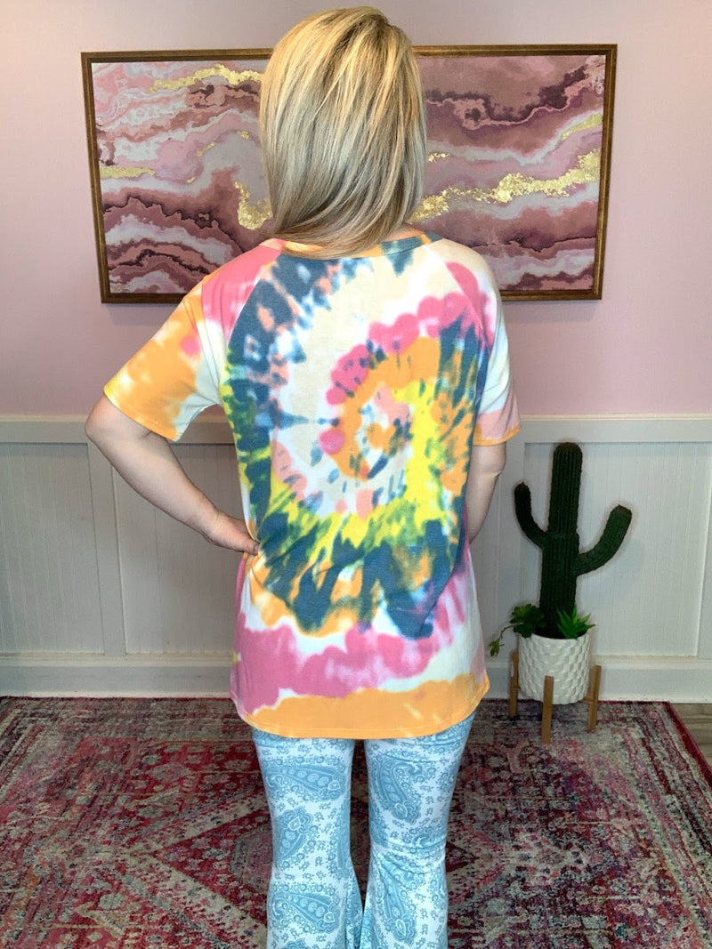 Orange & Yellow Tie Dye Top