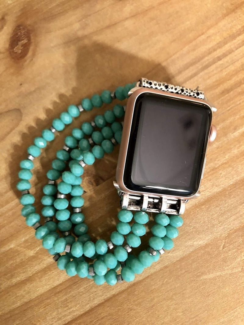 Turquoise Beaded Watch Band-42mm