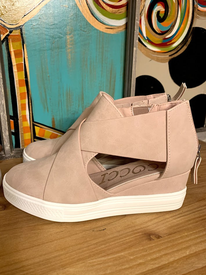 Blush Wedge Sneakers