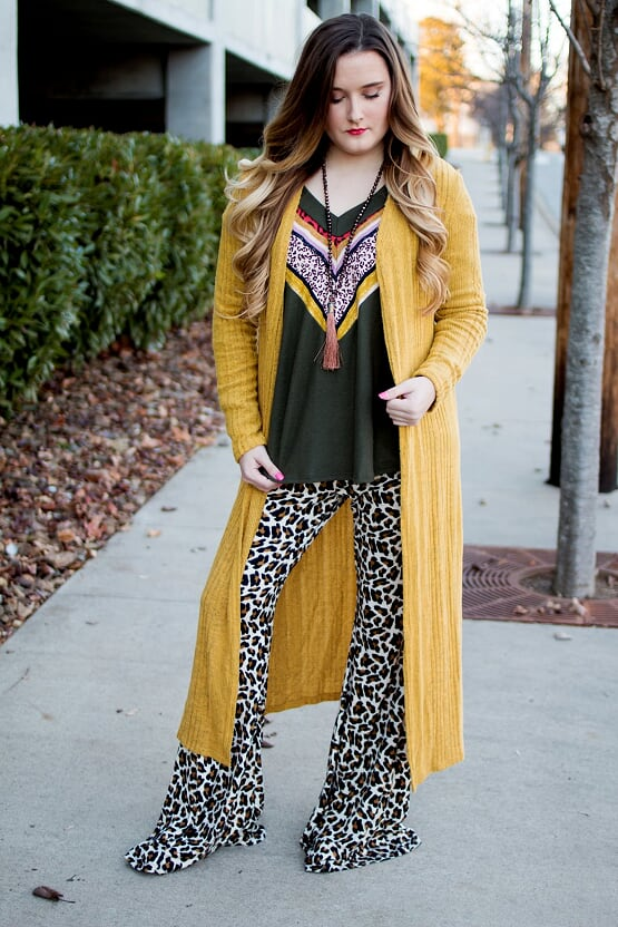 Yellow Sweater Cardigan