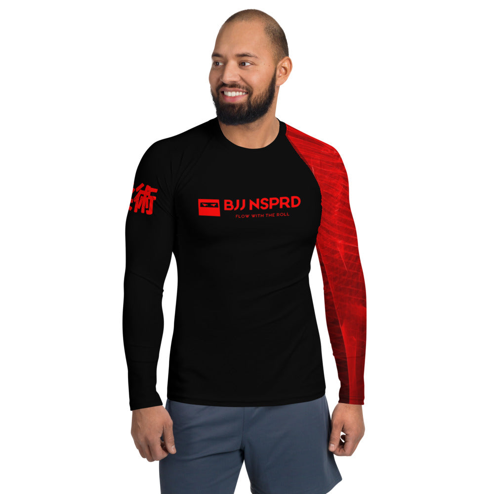 Black Belt Ranked BJJ NSPRD Men's Rash Guard